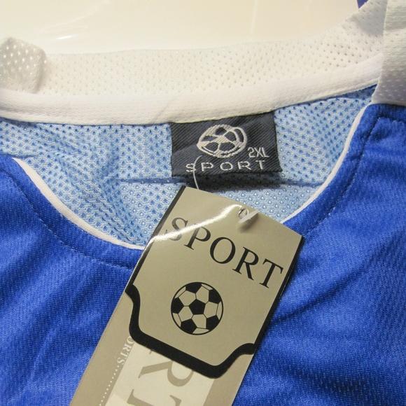 6b78ade03 2XL Men s Soccer Jersey with Emblem of El Salvador